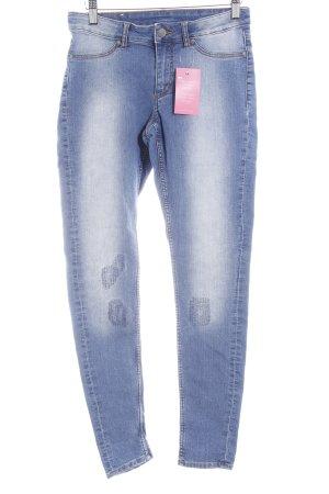 Cheap Monday Skinny Jeans blau Washed-Optik