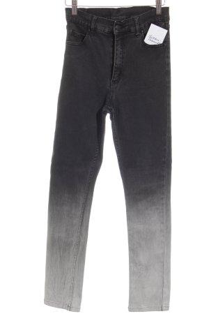 Cheap Monday Stretchhose schwarz-weiß Farbverlauf Casual-Look