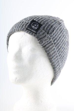 Cheap Monday Cappello a maglia grigio chiaro stile casual