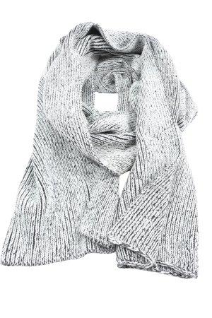 Cheap Monday Gebreide sjaal wit-zwart gestippeld casual uitstraling