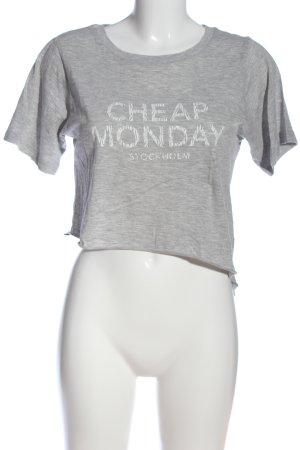 Cheap Monday Strickshirt hellgrau meliert Casual-Look