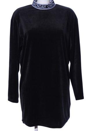 Cheap Monday Sweatkleid schwarz-weiß Schriftzug gedruckt Casual-Look