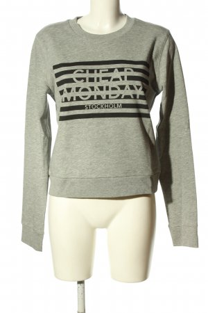 Cheap Monday Sweatshirt hellgrau-schwarz Motivdruck Casual-Look