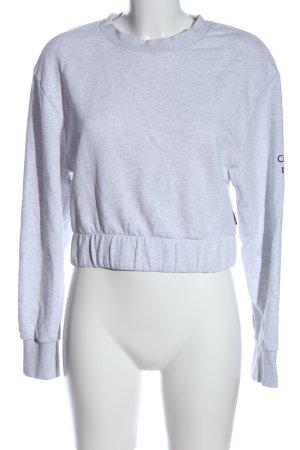 Cheap Monday Felpa grigio chiaro puntinato stile casual