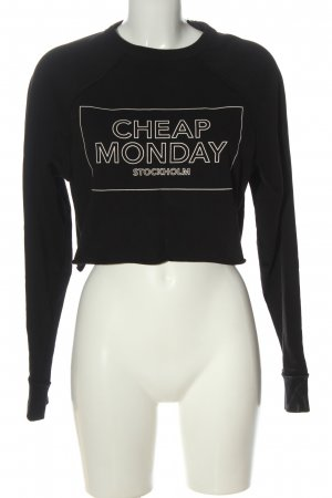 Cheap Monday Sweat Shirt black printed lettering casual look