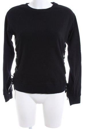 Cheap Monday Sweatshirt schwarz-weiß Schriftzug gedruckt Casual-Look