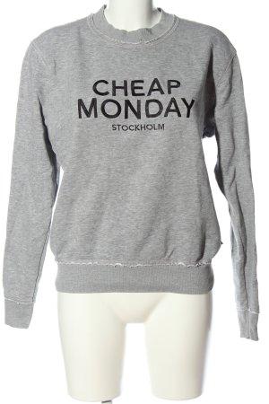 Cheap Monday Sweat Shirt light grey flecked casual look