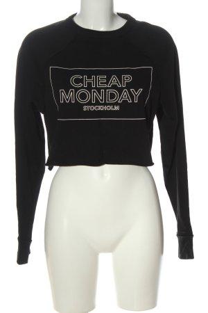 Cheap Monday Sweatshirt schwarz Schriftzug gedruckt Casual-Look