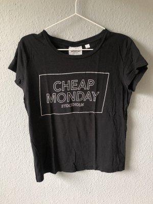 Cheap Monday Print Shirt black-white