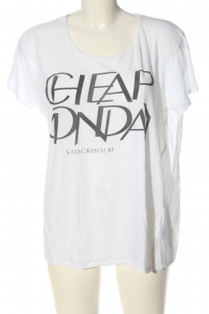 Cheap Monday T-Shirt white-black themed print casual look