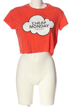 Cheap Monday T-shirt imprimé avec thème style décontracté