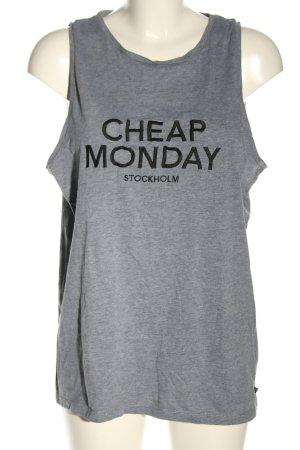 Cheap Monday Débardeur gris clair moucheté style décontracté