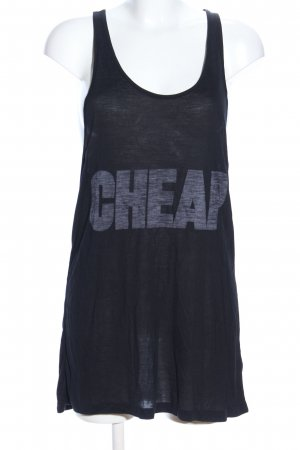 Cheap Monday Tank Top black printed lettering casual look