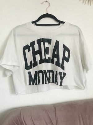 Cheap Monday weekday cropped Top in weiß Mit lettering