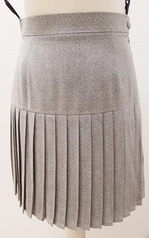 Falda de talle alto gris claro