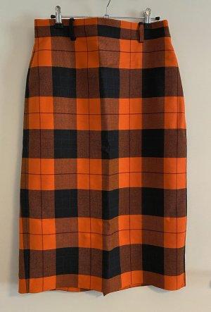 Check Pencil Skirt Zara