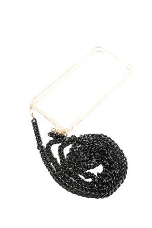 Cheeky Chain Pokrowiec na telefon komórkowy kremowy-czarny W stylu casual