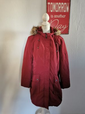 Cheer Quilted Coat carmine