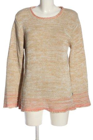 Cheer Szydełkowany sweter brązowy-jasny pomarańczowy Melanżowy