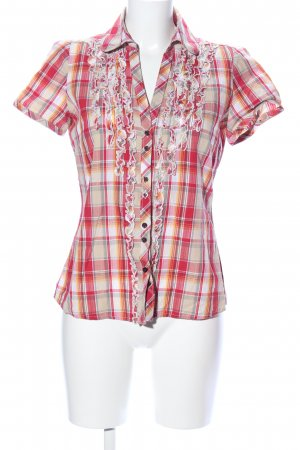 Cheer Hemd-Bluse Karomuster Casual-Look