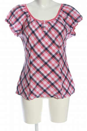 Cheer Short Sleeved Blouse check pattern casual look