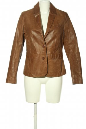 Cheer Leather Blazer brown casual look