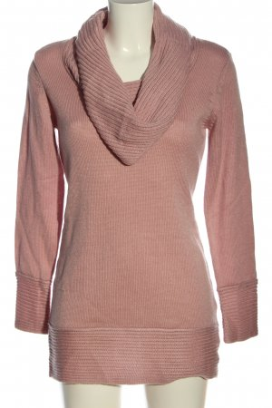 Cheer Long Sweater pink casual look