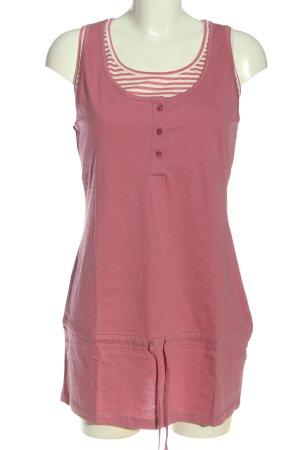 Cheer Robe courte rose-blanc cassé motif rayé style décontracté