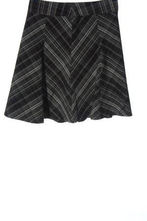 Cheer Spódnica mini czarny-biały Wzór w kratkę W stylu biznesowym