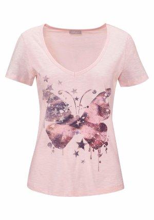 Cheer Print Shirt pink cotton