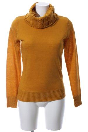 Cheer Sweter z golfem jasny pomarańczowy Warkoczowy wzór W stylu casual