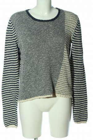 Cheer Crewneck Sweater white-blue allover print casual look