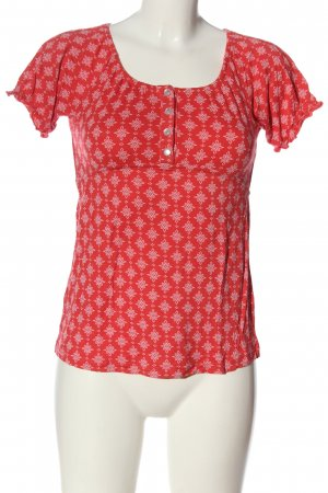 Cheer Strickshirt rot-weiß Allover-Druck Casual-Look