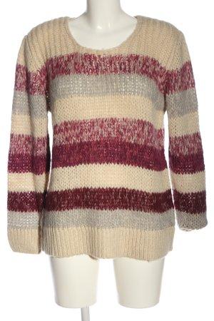 Cheer Warkoczowy sweter Wzór w paski W stylu casual