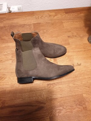 Chelsea Boots green grey imitation leather