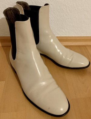 AGL Chelsea Boots natural white leather