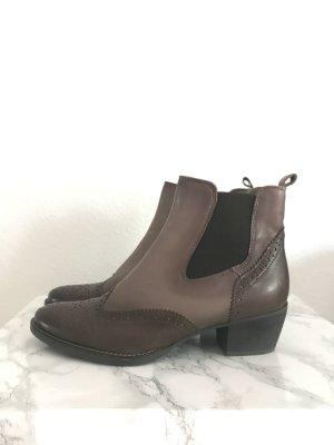 Chelsea-Boots Echtlederschuh Lederschuh Boots Größe 41 Mark Adam New York