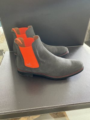 Serfan Chelsea Boot gris anthracite-orange fluo