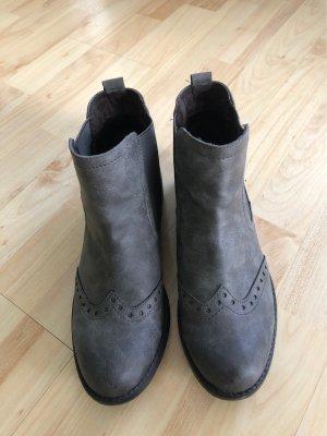 Marco Tozzi Chelsea laarzen grijs-donkergrijs