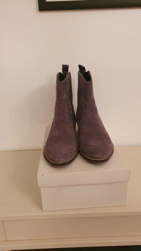 Chelsea Boots in grau / Rauhleder / Gr. 38 - wie neu