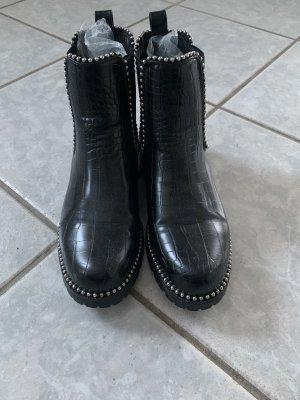 Chelsea Boots in Schlangenoptik