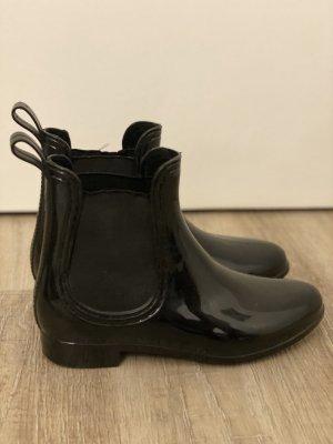 Chelsea Boots Lack Optik Schwarz Gr. 38