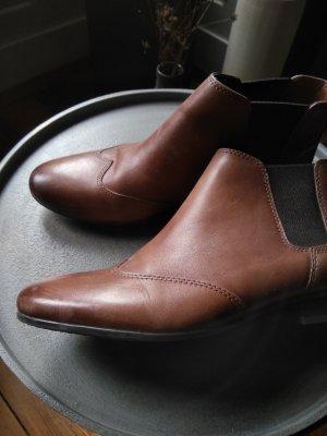 5th Avenue Chelsea Boot brun foncé-cognac cuir