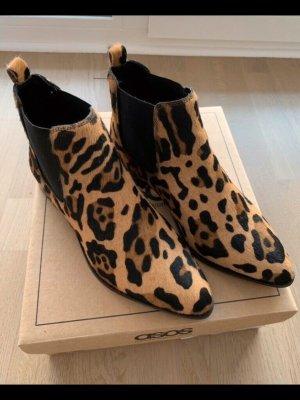 Chelsea Boots Leopard in Leder