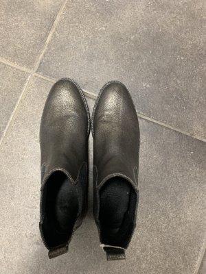 Marco Tozzi Wciągane buty za kostkę czarny-srebrny