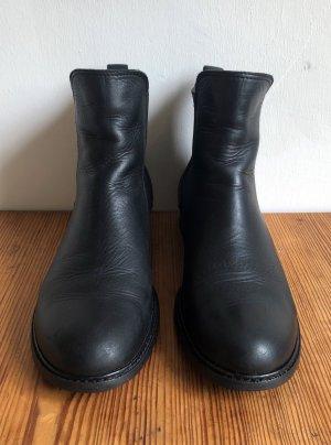 Chelsea Boots /Navy Boot / Leder / schwarz / Größe 39