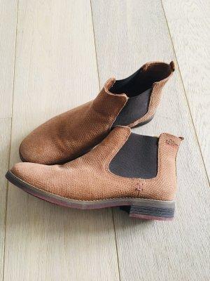 Chelsea Boots S.Oliver Gr. 42  Cognac
