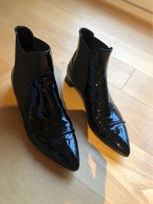Chelsea Boots schwarz glänzend Lack