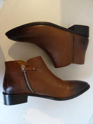 Chelsea Boots/Stiefeletten Leder Gr.37 Neuwertig Braun