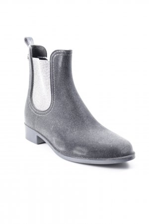 Chelsea Boots taupe-silberfarben Glitzer-Optik